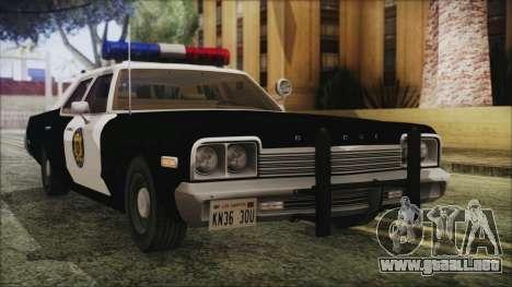 Dodge Monaco 1974 LVPD IVF para GTA San Andreas