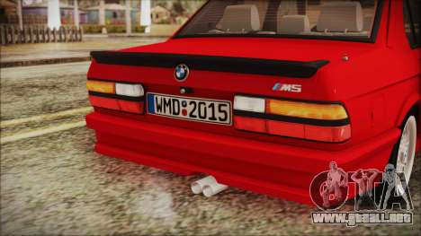 BMW M5 E28 1988 para vista lateral GTA San Andreas