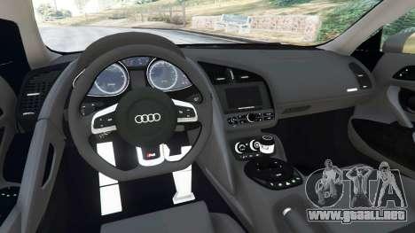 GTA 5 Audi R8 Quattro vista lateral derecha