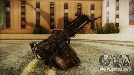 Fallout 4 Shredding Minigun para GTA San Andreas segunda pantalla