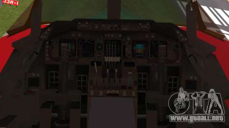 Boeing 747-100 Merry Christmas and Happy NY para GTA San Andreas vista hacia atrás