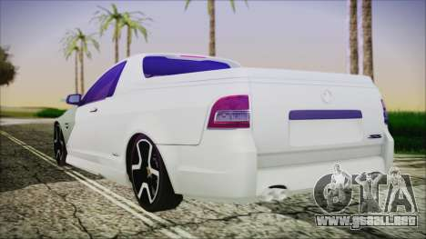 Holden Commodore SS Ute 2012 para GTA San Andreas left