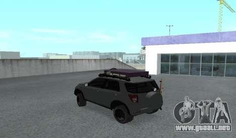 Toyota Terios 2009 OFF-ROAD MUD-TERRAIN para la visión correcta GTA San Andreas