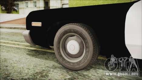 Dodge Monaco 1974 SFPD IVF para GTA San Andreas vista posterior izquierda