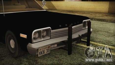 Dodge Monaco 1974 LVPD IVF para GTA San Andreas vista hacia atrás