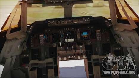 Boeing 747-237Bs Air India Samudragupta para la visión correcta GTA San Andreas