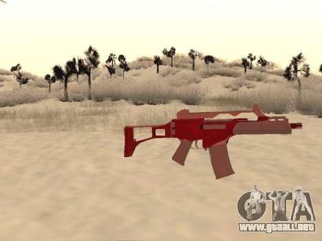 La navidad G36c camo para GTA San Andreas tercera pantalla