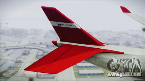 GTA 5 Cargo Plane para GTA San Andreas vista posterior izquierda