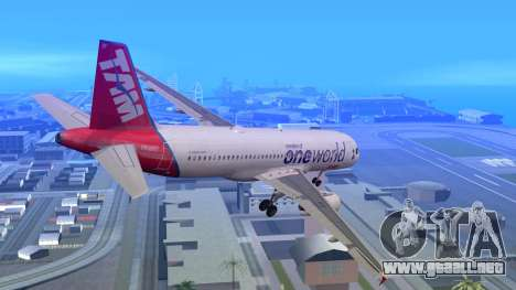 Airbus A320-200 TAM Airlines Oneworld para GTA San Andreas left