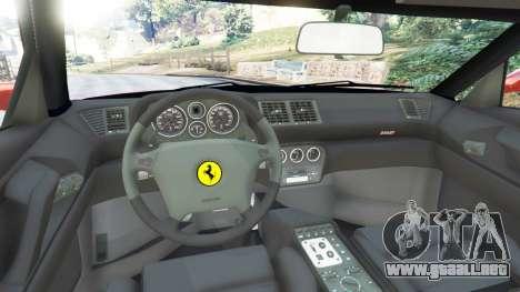 GTA 5 Ferrari F355 vista lateral trasera derecha