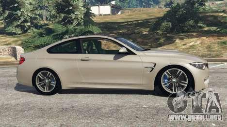 GTA 5 BMW M4 2015 v1.1 vista lateral izquierda