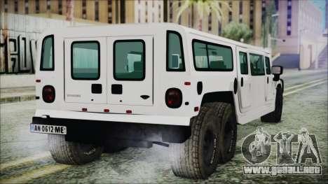 Hummer H1 Limo 6x6 para GTA San Andreas left