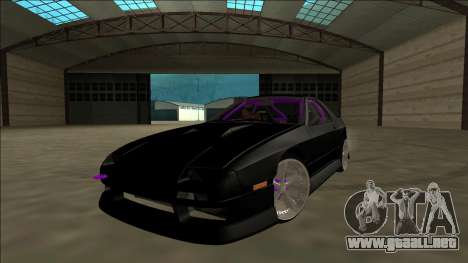 Mazda RX-7 FC Drift para visión interna GTA San Andreas