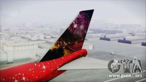 Boeing 747-100 Merry Christmas and Happy NY para GTA San Andreas vista posterior izquierda