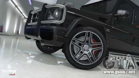 GTA 5 Mercedes-Benz G63 AMG v1 vista lateral trasera derecha