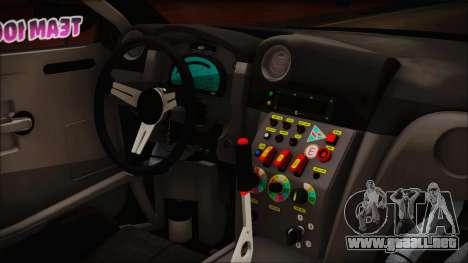 Nissan GT-R R35 Naoto para la visión correcta GTA San Andreas