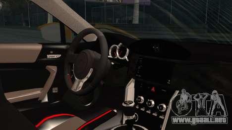 Toyota GT86 (ZN6) 2012 HD Algeria PJ para la visión correcta GTA San Andreas