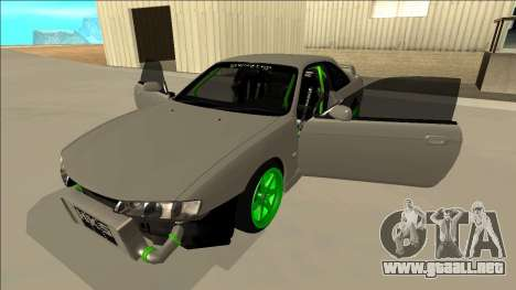 Nissan Silvia S14 Drift Monster Energy para vista lateral GTA San Andreas