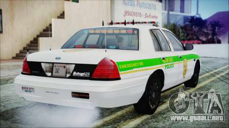 Ford Crown Victoria Miami Dade v2.0 para GTA San Andreas left