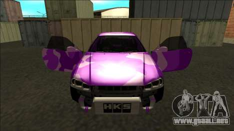 Nissan Skyline R34 Drift para GTA San Andreas interior