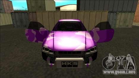 Nissan Skyline R34 Drift para GTA San Andreas interior