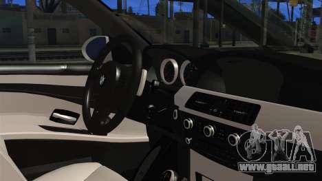 BMW M5 E60 Bosnian Police para la visión correcta GTA San Andreas
