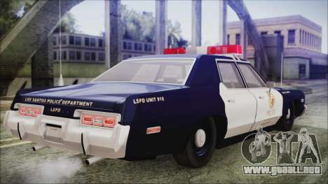 Dodge Monaco 1974 LSPD General Duties Unit para GTA San Andreas left