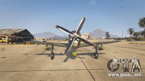 GTA 5 P-47D Thunderbolt tercera captura de pantalla