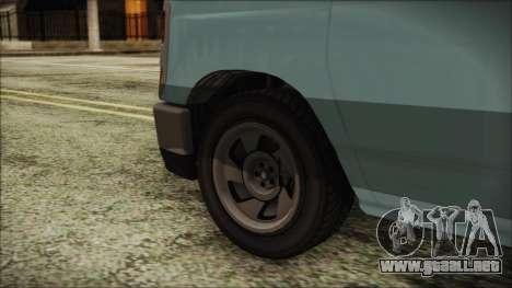 GTA 5 Bravado Rumpo para GTA San Andreas vista posterior izquierda