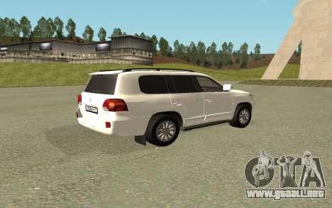 Toyota Land Cruiser 200 Bulkin Edition para GTA San Andreas left