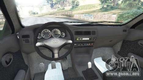 GTA 5 Toyota Corolla 1.6 XEI [black edition] v1.02 vista lateral trasera derecha