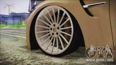 BMW M4 Coupe para GTA San Andreas vista posterior izquierda
