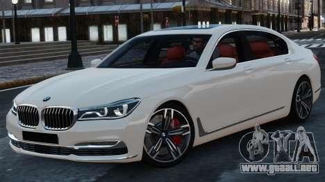 BMW 7-er 2016 para GTA 4