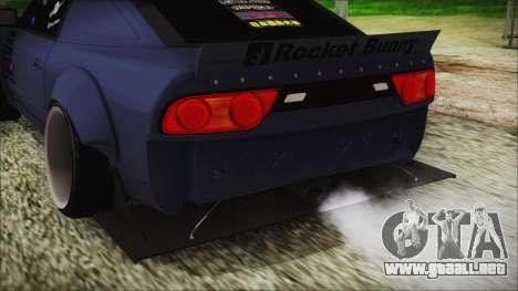 Nissan 180SX Rocket Bunny Edition para GTA San Andreas vista hacia atrás