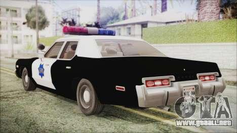 Dodge Monaco 1974 SFPD IVF para GTA San Andreas left
