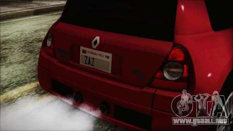 Renault Clio v6 Tunable para la visión correcta GTA San Andreas