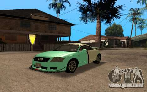 Audi TT 2004 Tunable para vista lateral GTA San Andreas