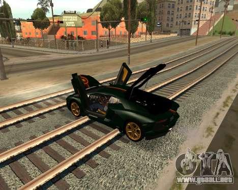Car Accessories Script v1.1 para GTA San Andreas sucesivamente de pantalla