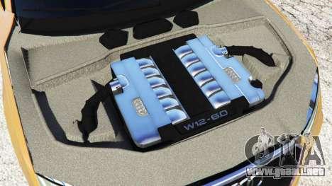 GTA 5 Audi RS7 2016 vista lateral trasera derecha