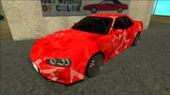 Nissan Skyline R34 Drift Red Star para GTA San Andreas