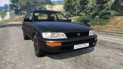 Toyota Corolla 1.6 XEI [black edition] v1.02 para GTA 5