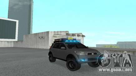 Toyota Terios 2009 OFF-ROAD MUD-TERRAIN para GTA San Andreas
