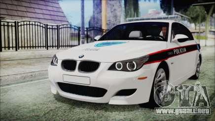 BMW M5 E60 Bosnian Police para GTA San Andreas