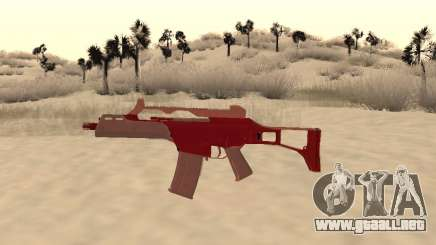 La navidad G36c camo para GTA San Andreas