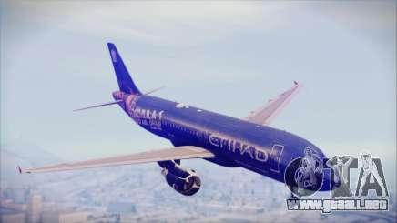 Airbus A320-200 Etihad Airways Abu Dhabi Grand para GTA San Andreas