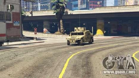 GTA 5 M1116 Humvee Up-Armored 1.1 delantero derecho vista lateral