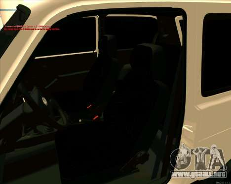 Niva 2121-Dorjar [ARM] para la vista superior GTA San Andreas