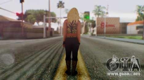 WWE Kaitlyn para GTA San Andreas tercera pantalla