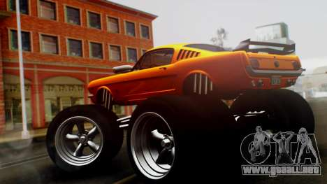Ford Mustang 1966 Chrome Edition v2 Monster para GTA San Andreas left