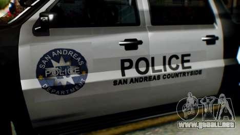 GTA 5 Police Ranger para la visión correcta GTA San Andreas